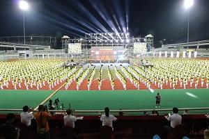 乐清市首届大型排舞千人跳活动